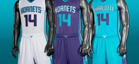 Les Charlotte Hornets dévoilent leurs nouveaux maillots