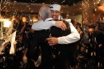 Gregg Popovich and Danny Green #4 of the San Antonio Spurs