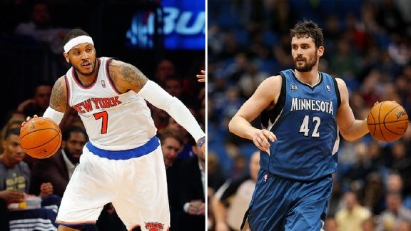 Kevin Love et Carmelo Anthony