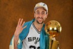 Manu Ginobili #20 of the San Antonio Spurs
