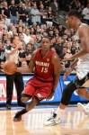 Mario Chalmers #15 of the Miami Heat