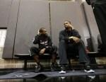 Miami Heat guard Toney Douglas, left, and center Chris Bosh