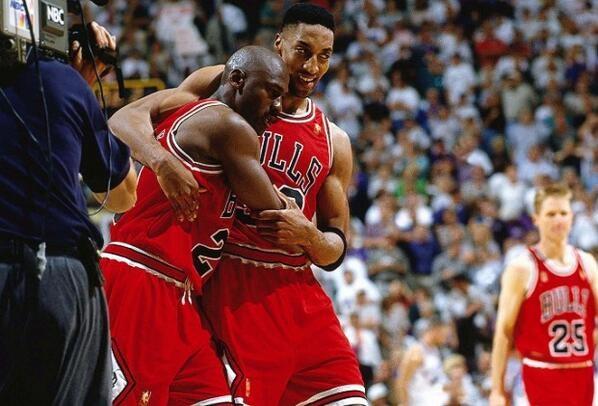 Michael Jordan et Scottie Pippen Flu Game 1997