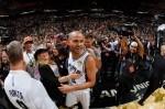 Tony Parker #9 of the San Antonio Spurs