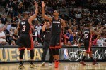 chris bosh #1 and Dwyane Wade #3 of the Miami Heat