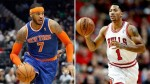 Derrick Rose et Carmelo Anthony