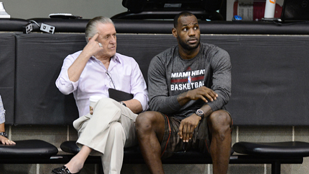 Pat Riley et Lebron James