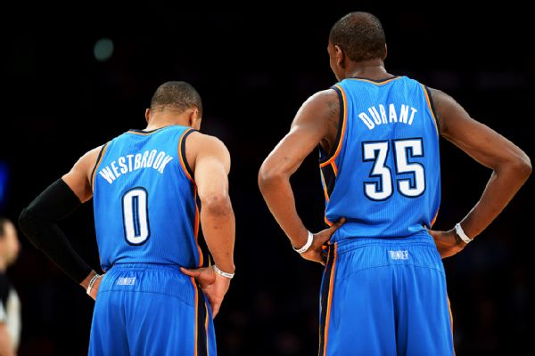 kevin durant et russell westbrook