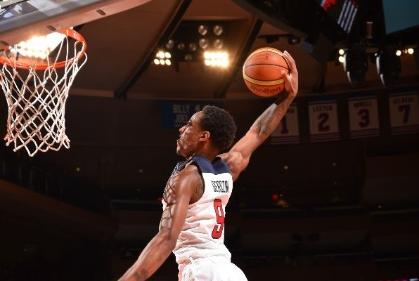 DeMar DeRozan #9 of the USA Basketball Men