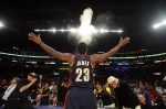 LeBron James lancé de talc