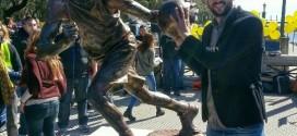 Manu Ginobili a sa statue en Argentine
