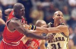 Reggie Miller et Michael Jordan