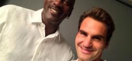 Le selfie Michael Jordan – Roger Federer