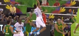 Les deux gros dunks de Rudy Gobert face au Brésil