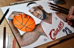 Artwork: Heather Rooney dessine un nouveau portrait bluffant de LeBron James