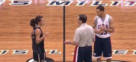 Vidéo:la meneuse Kelsey Minato défie Stephen Curry sur un concours à trois points