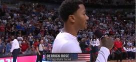 Vidéo : standing ovation pour Derrick Rose à Chicago
