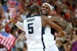 Kevin Durant et LeBron James lors des JO 2012