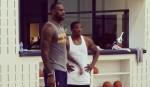 LeBron James et Eric Bledsoe