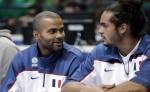 Tony Parker et Joakim Noah équipe de France