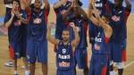 Tony Parker et l'équipe de France