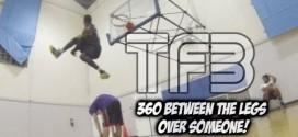 Chris Staples passe un 360 entre les jambes et par-dessus une personne