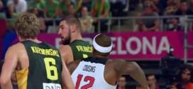 Vidéo: DeMarcus Cousins se retient de mettre une droite à Jonas Valanciunas