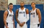 Chandler Parsons, Tyson Chandler et Dirk Nowitzki