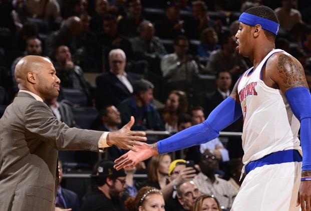 Derek Fisher et Carmelo Anthony