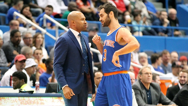 Derek Fisher et Jose Calderon