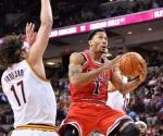 Derrick Rose #1 of the Chicago Bulls