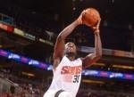 Earl Barron #30 of the Phoenix Suns