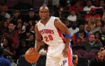 Jodie Meeks #20 of the Detroit Pistons