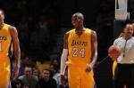 Kobe Bryant #24 of the Los Angeles Lakers