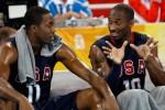 Kobe Bryant talks to Dwight Howard