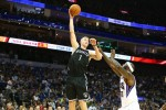 Mason Plumlee #1 of the Brooklyn Nets shoots