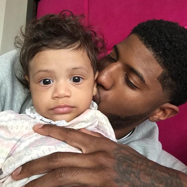 Paul George et sa fille