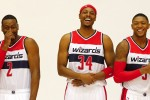 Paul pierce, John Wall et Bradley Beal
