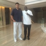 Shaquille O'Neal et Yao Ming