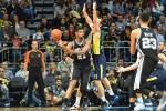 Tim Duncan #21 of the San Antonio Spurs