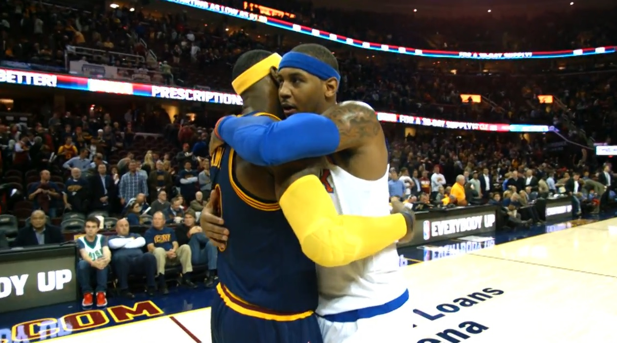 carmelo anthony et LeBron James