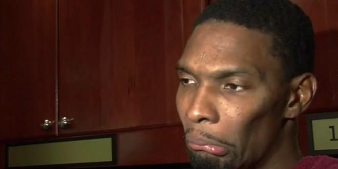 Chris Bosh très mécontent de la défense du Heat