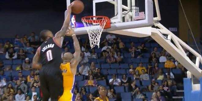 Vidéo : Damian Lillard manque de peu une énorme claquette dunk