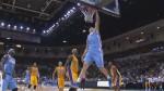 Fail : Timofey Mozgov et ses 2,16m contrés par le cercle