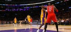 Vidéo : Dwight Howard et Kobe Bryant se chauffent après un coup de coude
