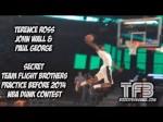 La combinaison à trois de Paul George, John Wall et Terrence Ross lors de l'entraînement du concours de dunks
