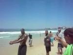 Le workout des Cavaliers sur la plage de Copacabana
