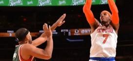 Les highlights de Carmelo Anthony (24 points) et Tim Hardaway Jr (20 points)