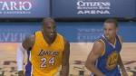 Stephen Curry plante un énorme 3-points sur la tête de Kobe Bryant