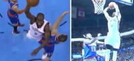 Russell Westbrook et Serge Ibaka s'envolent sur deux dunks monstrueux